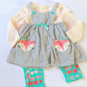 Nannette Baby Legging Matching Set Fox 2Pc